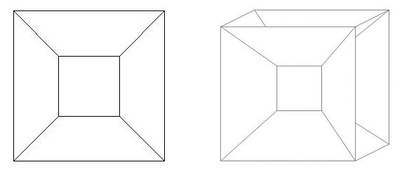 projection of a 4D cube