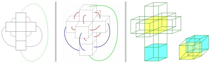 net of 3d and 4d cube